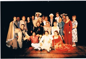 La troupe avec Pino Micol, Claudie Jacquelin et Jean Bouquin